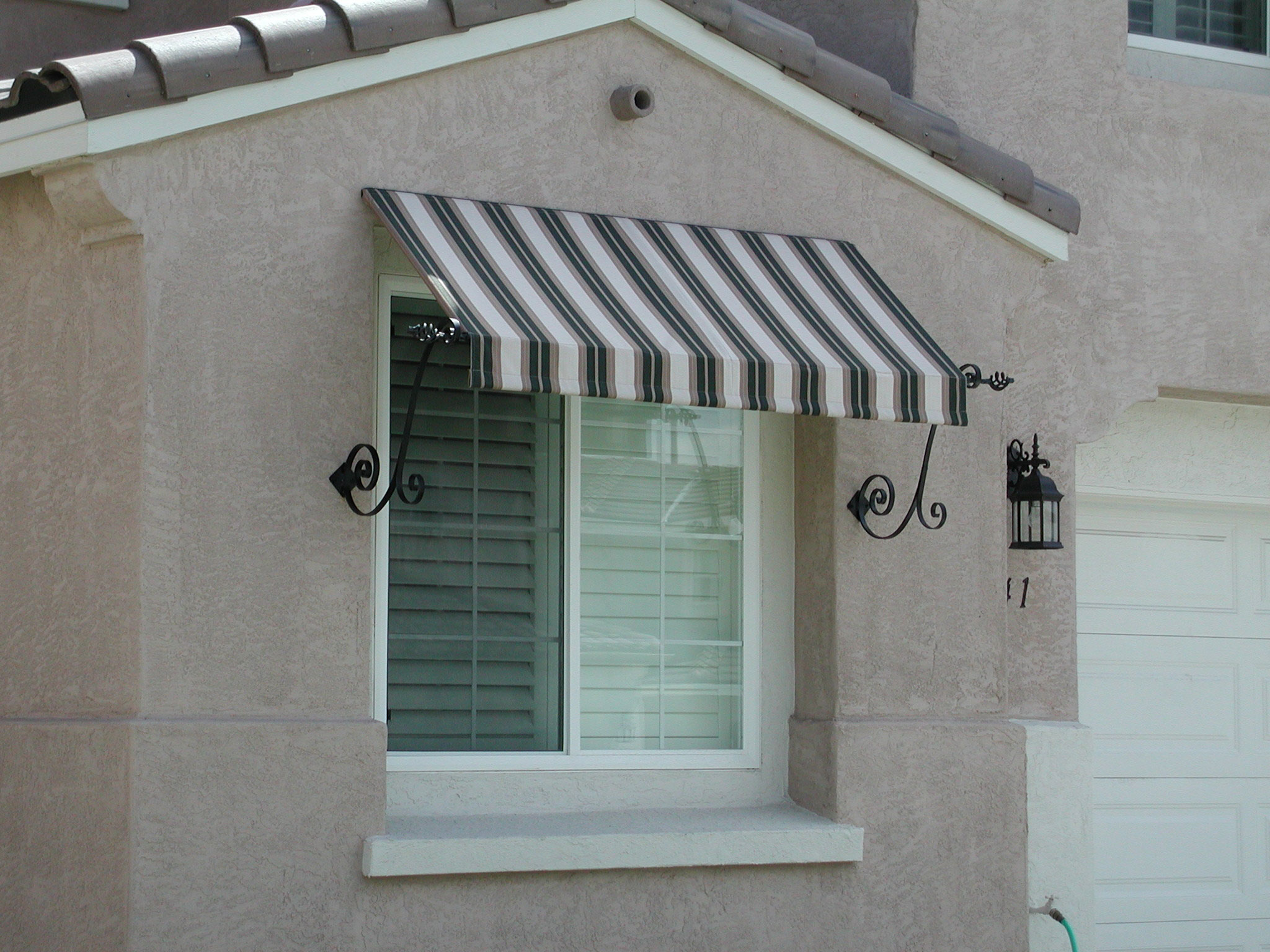 Decorative Iron Welcome To Awning Solutions